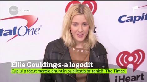 Cântăreaţa britanică Ellie Goulding s-a logodit