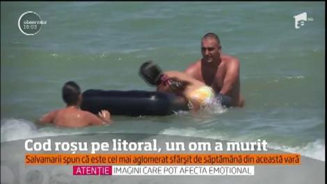Zi neagră pe litoralul românesc! Un bărbat și-a pierdut viața, iar alte patru au fost la un pas de moarte, după ce a fost arborat STEAGUL ROȘU!
