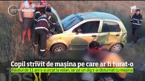 Incident şocant în Vâlcea. Un copil de 11 ani a murit pe loc, strivit de maşina pe care chiar el ar fi furat-o de la vecini