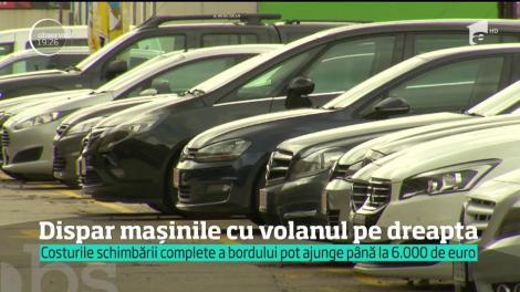 Mașinile cu volan pe dreapta vor fi interzise în România