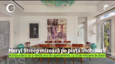 Meryl Streep mizează pe piața imobiliară. Îşi vinde apartamentul din centrul New York-ului cu 25 de milioane de dolari