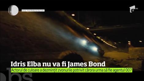 Idris Elba nu va fi James Bond. Rolul va fi interpretat tot de Daniel Craig