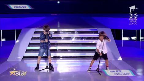 Europe - The Final Countdown. Vezi cum cântă Sebi & Dani, la Next Star!