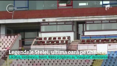 Începe demolarea stadionului Ghencea. În locul arenei care a găzduit meciuri istorice, se va ridica o construcţie nouă