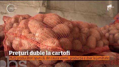 Datorită ploilor de la începutul verii, producătorii din Harghita spun că nu au de ales și trebuie să mărească prețurile la cartofi