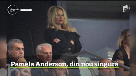 Pamela Anderson a pus punct relaţiei cu fotbalistul Adil Rami