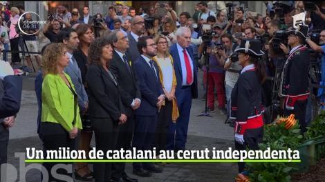 Sărbătoarea naţională a Cataloniei s-a transformat într-un marş masiv pentru independenţă