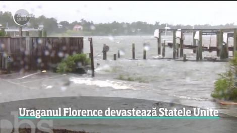 Uraganul Florance a provocat inundaţii masive în statele Carolina de Nord şi de Sud