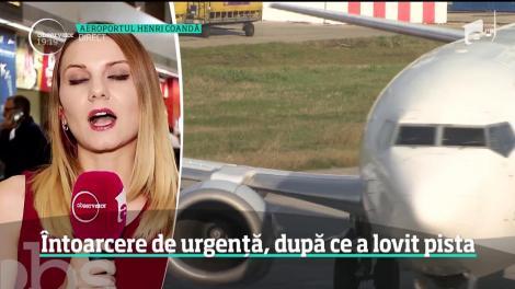 Incident grav pe aeroportul Otopeni. O aeronavă a atins cu coada pista la decolare