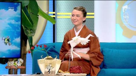 """Artă din hârtie! Alexandra Gabriela Baranyi, meșter de origami: """"Acest cocor l-am făcut dintr-un metru și jumătate de coală"""""""