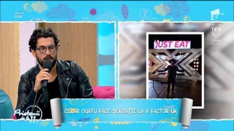 """""""Prietenii de la 11"""". Cezar Ouatu face senzație la """"X Factor"""" Marea Britanie: """"Totul a plecat de la un pariu"""""""