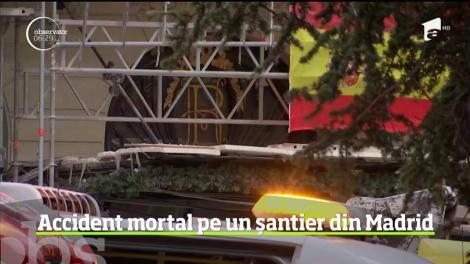Un muncitor a murit şi alţi 11 sunt răniţi după ce o schelă de mari dimensiuni s-a prăbuşit, la un hotel de lux din Madrid. Pe șantier lucrau cetățeni din mai multe țări
