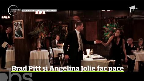 """Pentru prima oară de la divorț, Angelina Jolie l-a chemat pe Brad Pitt la o """"întâlnire secretă"""" . Ce au stabilit cei doi de dragul copiilor"""