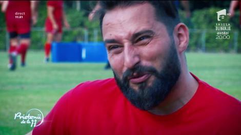 """Florin Ristei şi Ontzy s-au antrenat cu echipa de rugby a Stelei! """"Mi-a sărit umărul din cot!"""""""