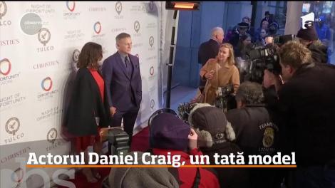 Actorul Daniel Craig, un tată model