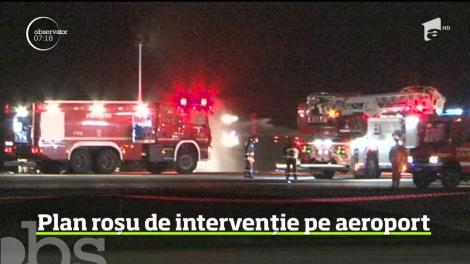 Au fost momente de panică pe aeroportul Internaţional Transilvania din Târgu Mureş