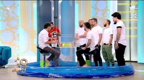 """""""Water war"""". Ristei făcut fleașcă în studioul de la """"Neatza"""": Baie în direct pentru fostul câștigător X Factor!"""