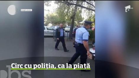 Circ ca la piaţă între un echipaj al poliţiei din Ploieşti şi o vânzătoare de zarzavaturi din oraş