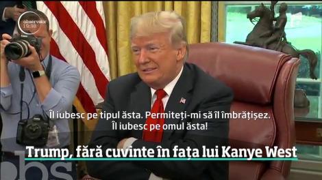 Doland Trump, fără cuvinte în fața lui Kanye West