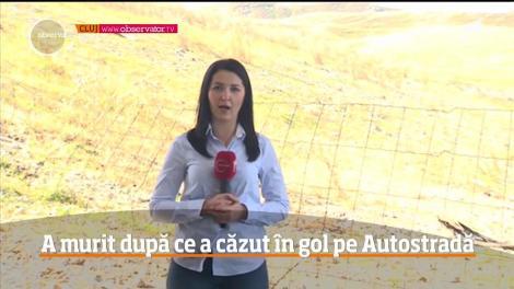 Un pas greşit a dus la moartea unui bărbat, pe Autostrada Transilvania! Omul a căzut în gol de pe un pod