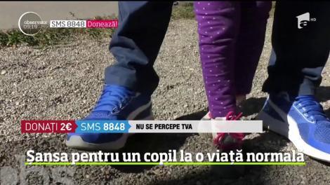 Vreau să ajut! La trei ani și opt luni, o fetiță din Brașov nu poate stă în șezut iar mersul îi este străin