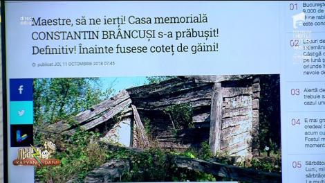 Smiley News. De necrezut! Casa Memorială a lui Constantin Brâncuși, fost coteț de găini, s-a prăbușit