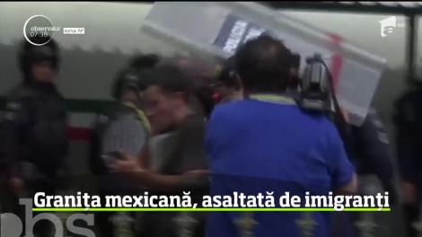 Granița mexicană, asaltată de imigranți