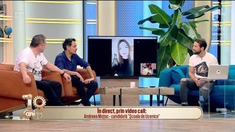 """Ucenica Andreea, interviu video cu matinalii. Dani: """"Mergi pe balcon și prezintă vremea"""""""
