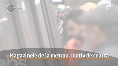 Spaţiile comerciale din staţiile de metrou funcţionează ilegal, cel puţin aşa susţin reprezentanţii Metrorex!