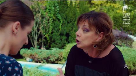 """Ceartă puternică între Roxana Popovici (Carmen Tănase) și Katia (Cosmina Dobrotă): """"Viperă ce ești! Te-am crescut la sânul meu și nu ai ezitat o secundă să mă muști!"""""""