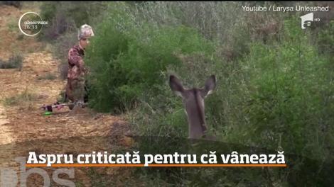 O prezentatoarea americană a stârnit furie în rândul internauţilor după ce a publicat fotografii de la vânătoare