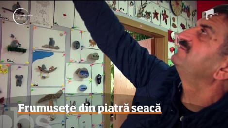 Un om de afaceri din Oradea colecţionează pietre din toate colţurile lumii şi le transformă în adevărate opere de artă