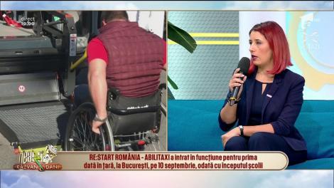 RE:START ROMÂNIA - ABILITAXI, serviciul de transport gratuit adaptat pentru persoanele cu dizabilități, este acum și în București