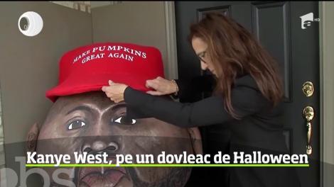 În Statele Unite, un uriaş dovleac a fost împodobit cu o caricatură a rapperului Kanye West