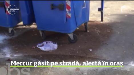 Este alertă la Râmnicu Vălcea, unde autorităţile au ridicat, de pe stradă, cinci kilograme de substanţă ce ar putea fi mercur