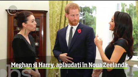 Prinţul Harry şi soţia sa Meghan se află în Noua Zeelandă, ultima etapă a turneului lor în ţările din bazinul Oceanul Pacific