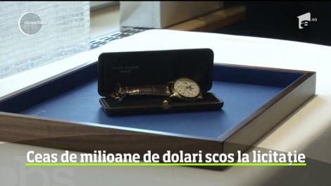 Ceas de lux cu o valoare greu de crezut scos la licitaţie la Geneva