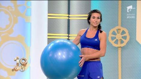 Fitness la Neatza! Cum să lucrezi corect cu fitball-ul