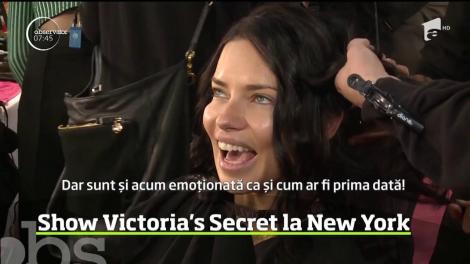 A fost nebunie în culisele marelui show Victoria's Secret care a avut loc la New York