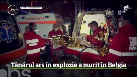 Tânărul ars în explozia unui bloc a murit chiar de ziua lui onomastică, în Belgia