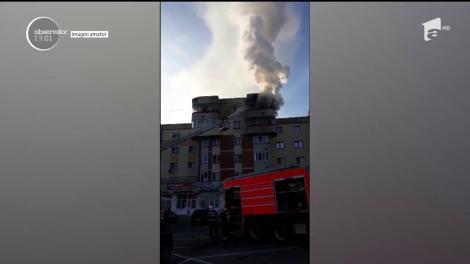 Incendiu puternic într-un apartament din Piteşti!