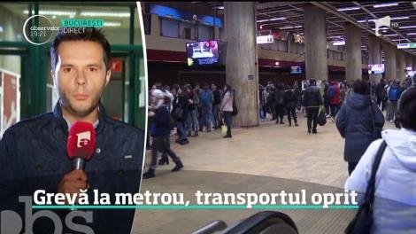 Angajaţii Metrorex intră în grevă. Transportul va fi oprit