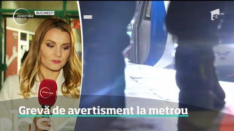 Grevă de avertisment la Metrou, în intervalul 4-6 dimineaţa!