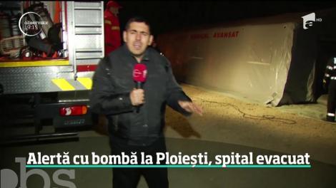 Alertă cu bombă la Ploiești, spital evacuat