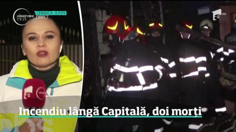 Alertă maximă lângă Bucureşti. Un incendiu puternic a mistuit o casă în care erau 11 oameni