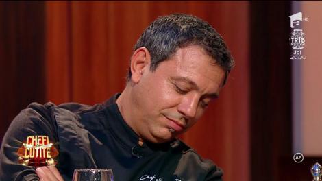 """Chef Florin Dumitrescu își laudă, obligat, colegii timp de un minut, fără oprire: """"Mă simt onorat. În momentul când unul dintre ei este la aragaz..."""""""