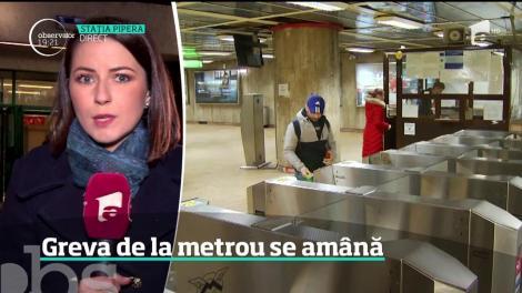 Greva de la metrou se amână