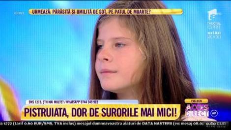 """Maria Petre, fetița cu chip de înger, își vrea surioarele lângă ea: """"Este cea mai mare dorință a mea"""""""