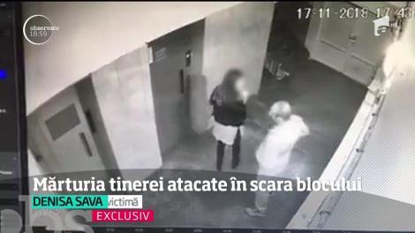 Tânăra de 20 de ani lovită cu bestialitate în scara unui bloc din Alba Iulia face mărturisiri şocante