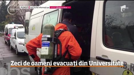 50 de oameni au fost evacuaţi de urgenţă, din clădirea Universităţii de Petrol şi Gaze din Ploieşti
